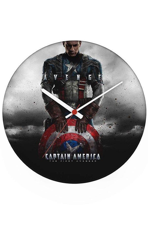 Relógio de Parede Capitão America