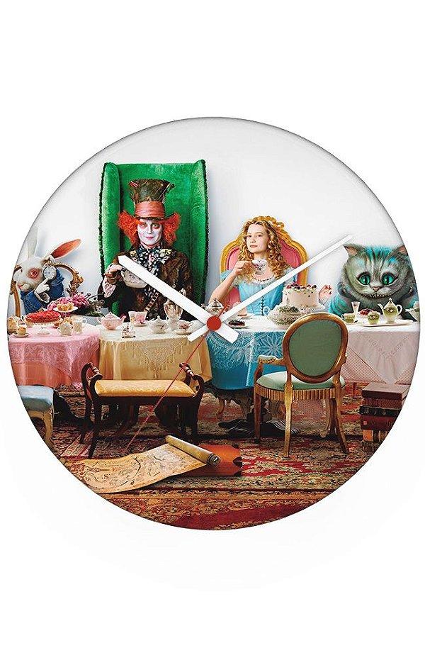 Relógio de Parede Alice no País das Maravilhas - Chapeleiro