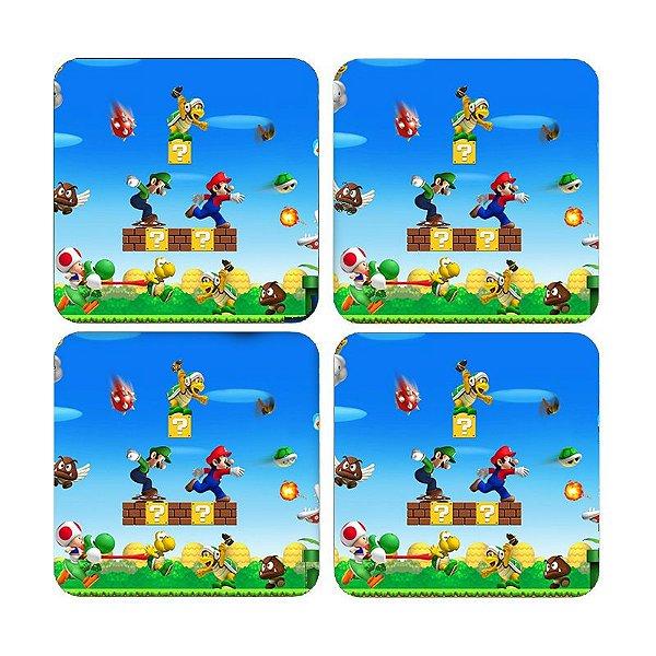 Porta Copos Super Mario e Luigi - Nerd e Geek - Presentes Criativos