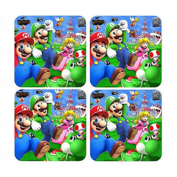 Porta Copos Super Mario Bros e Luigi