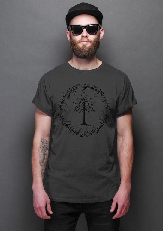 Camiseta Masculina   O Senhor dos Anéis - Filme - Nerd e Geek - Presentes Criativos