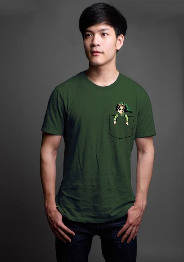 Camiseta Masculina   Legend of Zelda Bolso - Nerd e Geek - Presentes Criativos