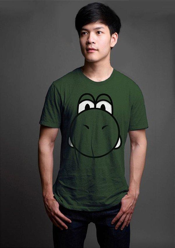 Camiseta Masculina   Yoshi - Game - Nerd e Geek - Presentes Criativos