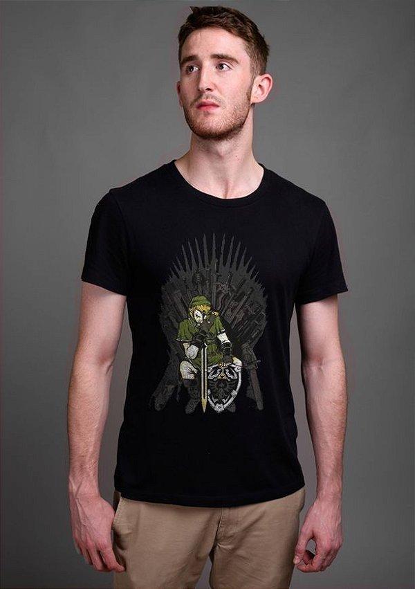 Camiseta Masculina  Legend of Zelda Thrones - Nerd e Geek - Presentes Criativos