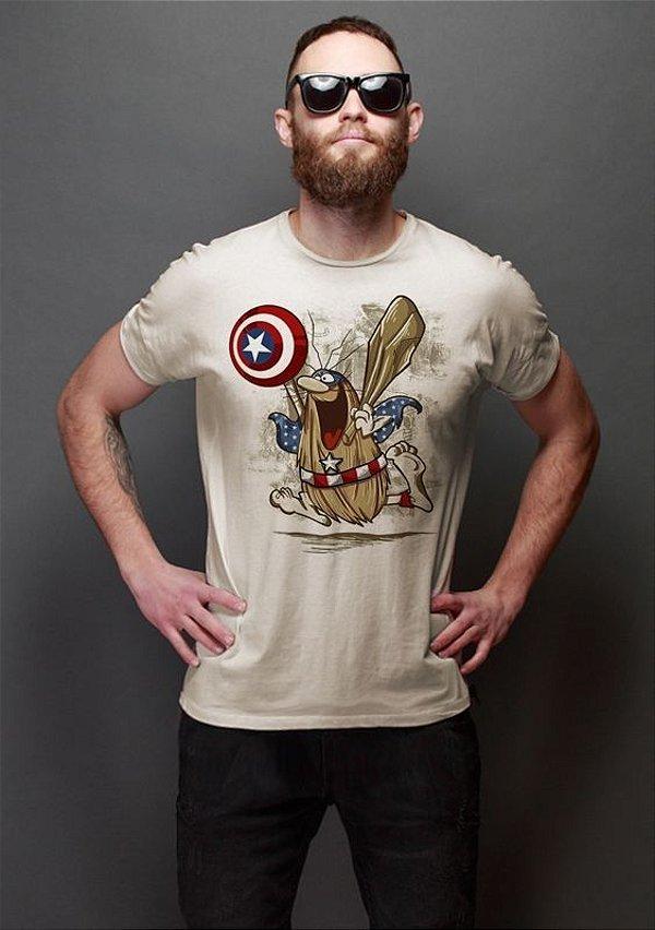 Camiseta Masculina  Capitão Caverna - Nerd e Geek - Presentes Criativos
