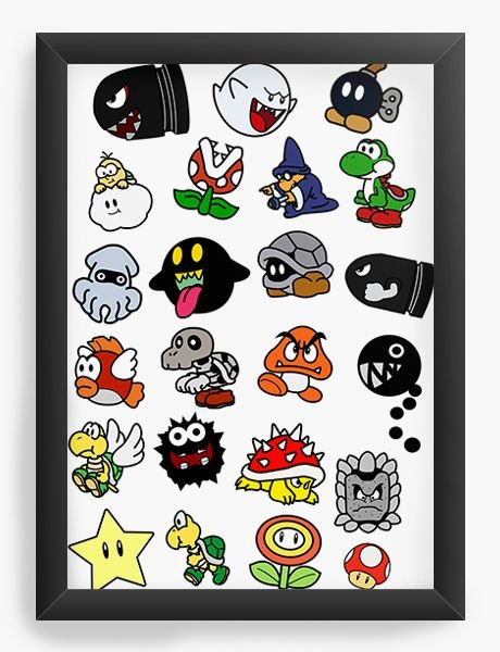 Quadro Decorativo Super Mario Word