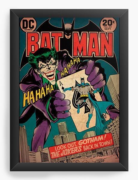 Quadro Decorativo Bat Man - Coringa
