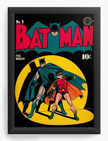 Quadro Decorativo Batman e Robin