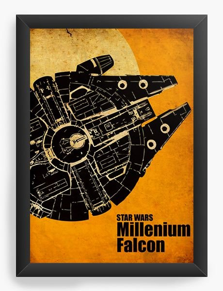 Quadro Decorativo Star Wars - Millenium