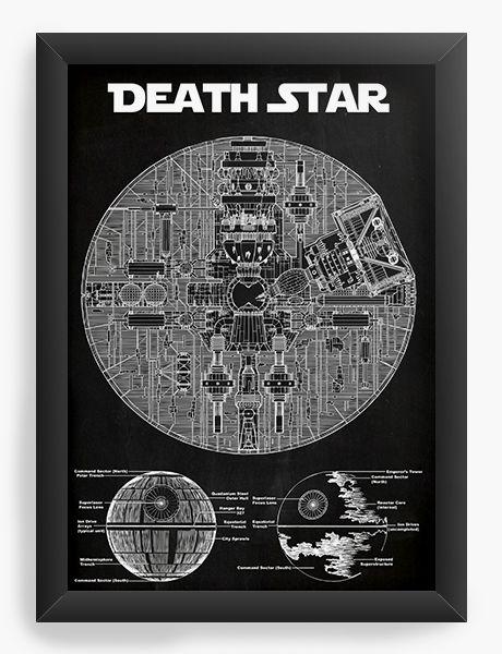 Quadro Decorativo Death Star