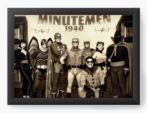 Quadro Decorativo A4 (33X24) Minutemen 1940 - Nerd e Geek - Presentes Criativos
