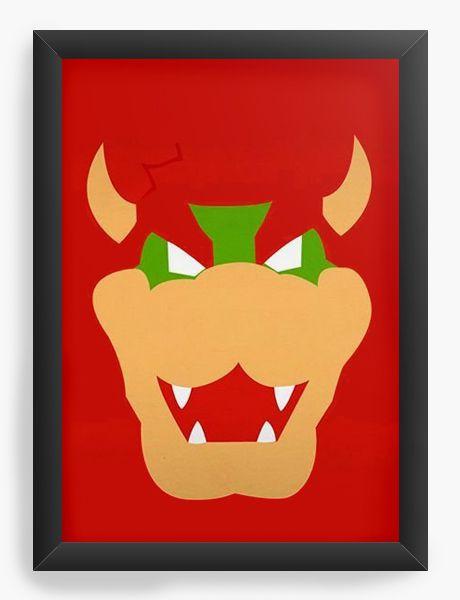 Quadro Decorativo Bowser - Nerd e Geek - Presentes Criativos