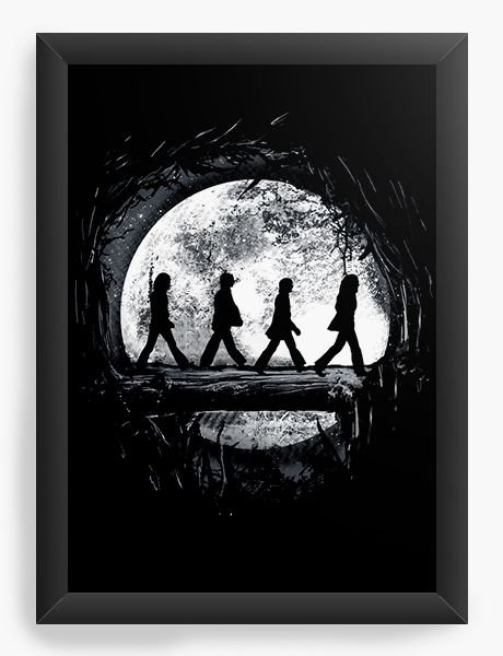 Quadro Decorativo The Beatles - Nerd e Geek - Presentes Criativos