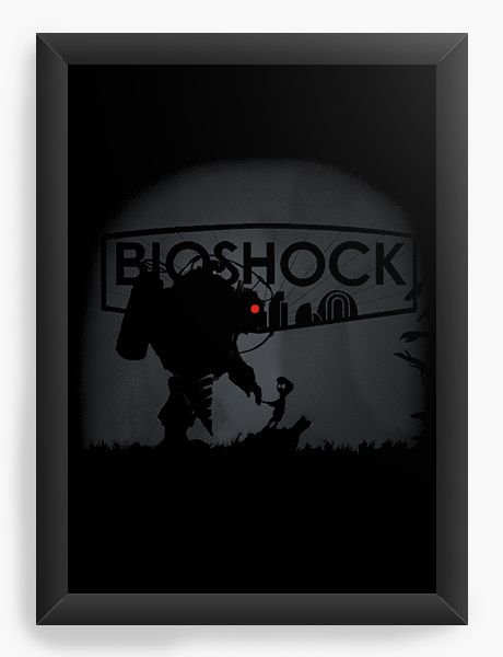Quadro Decorativo A4 (33X24) Bioshock - Nerd e Geek - Presentes Criativos