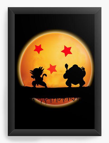 Quadro Decorativo A4 (33X24) Dragon Ball - Nerd e Geek - Presentes Criativos