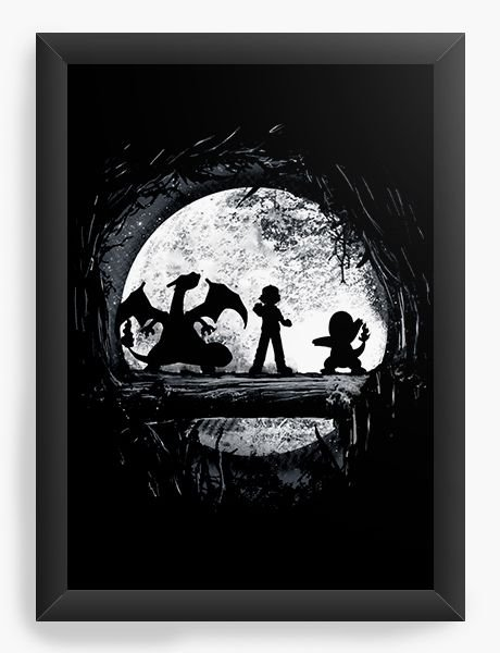 Quadro Decorativo A4 (33X24) Pokemon - Nerd e Geek - Presentes Criativos