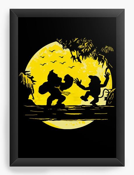 Quadro Decorativo Donkey Kong - Nerd e Geek - Presentes Criativos