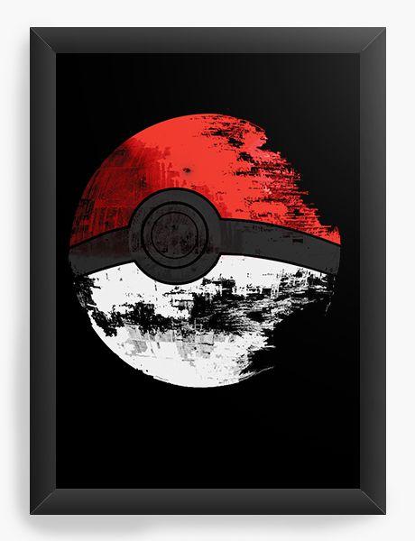 Quadro Decorativo Pokemon - Esfera - Nerd e Geek - Presentes Criativos