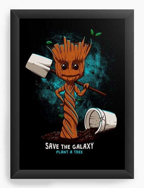 Quadro Decorativo A4 (33X24) Save The Galaxy