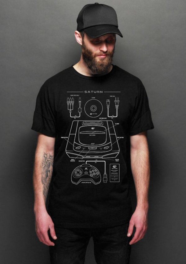 Camiseta Masculina  Saturn  - Nerd e Geek - Presentes Criativos