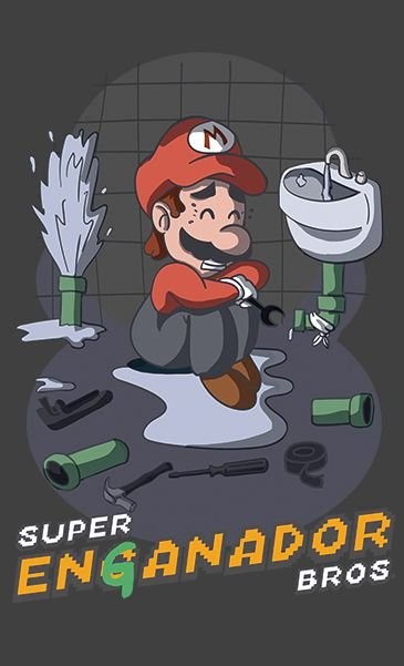 Camiseta Super Mario Enganador Bros