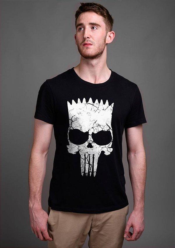 Camiseta Masculina  Simpson Punisher - Nerd e Geek - Presentes Criativos