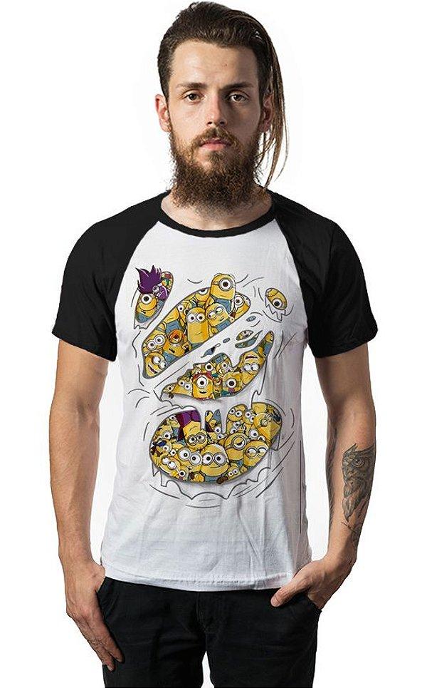 Camiseta Raglan Minions - Nerd e Geek - Presentes Criativos