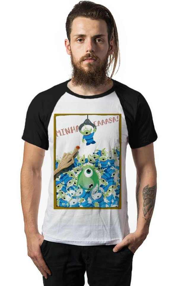 Camiseta Raglan Monstros SA