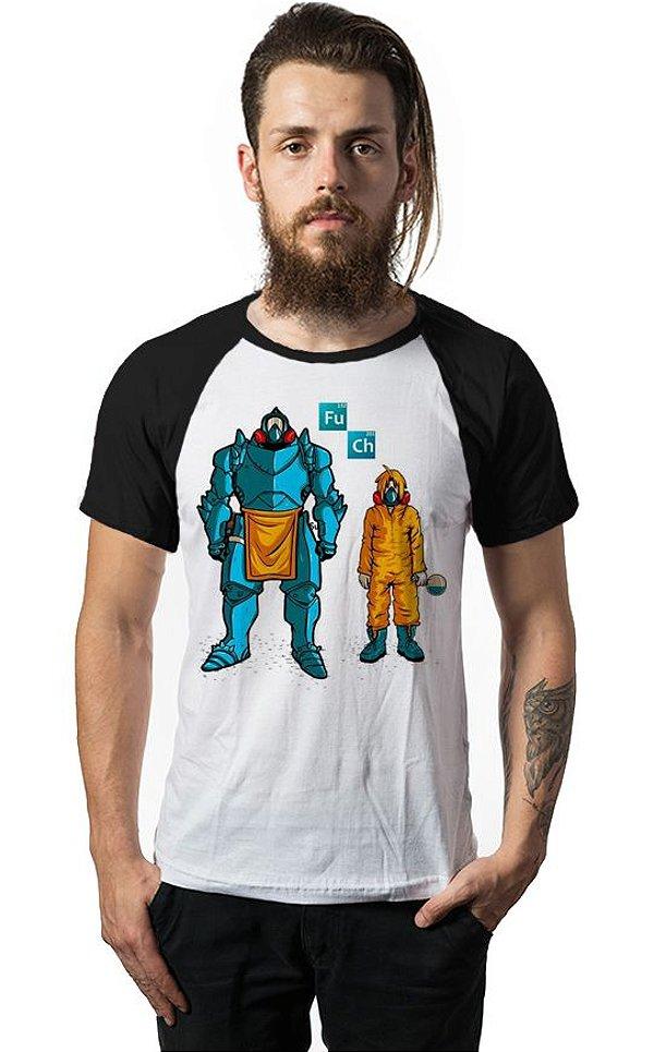 Camiseta Raglan Fullmetal alchemist - Nerd e Geek - Presentes Criativos
