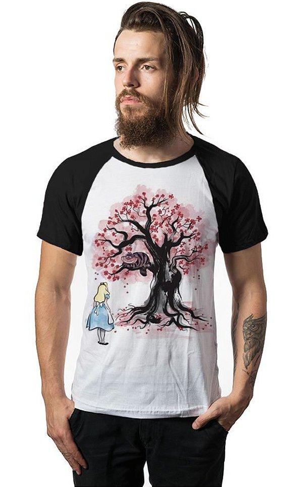 Camiseta Raglan Alice in Wonderland Cheshire