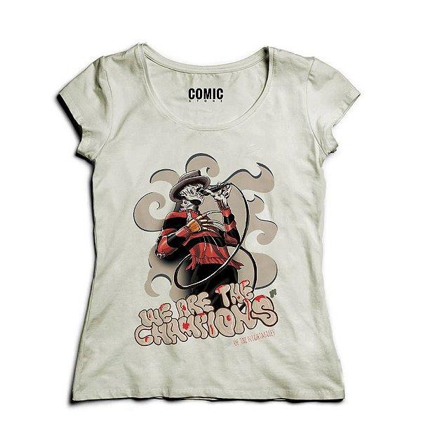 Camiseta Feminina Freddy Frueger   - Nerd e Geek - Presentes Criativos