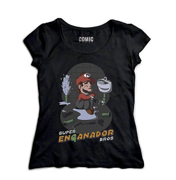 Camiseta Feminina Super Mario Encanador
