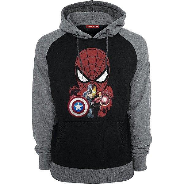 Blusa com Capuz Homem Aranha E Homem De Ferro - Avengers