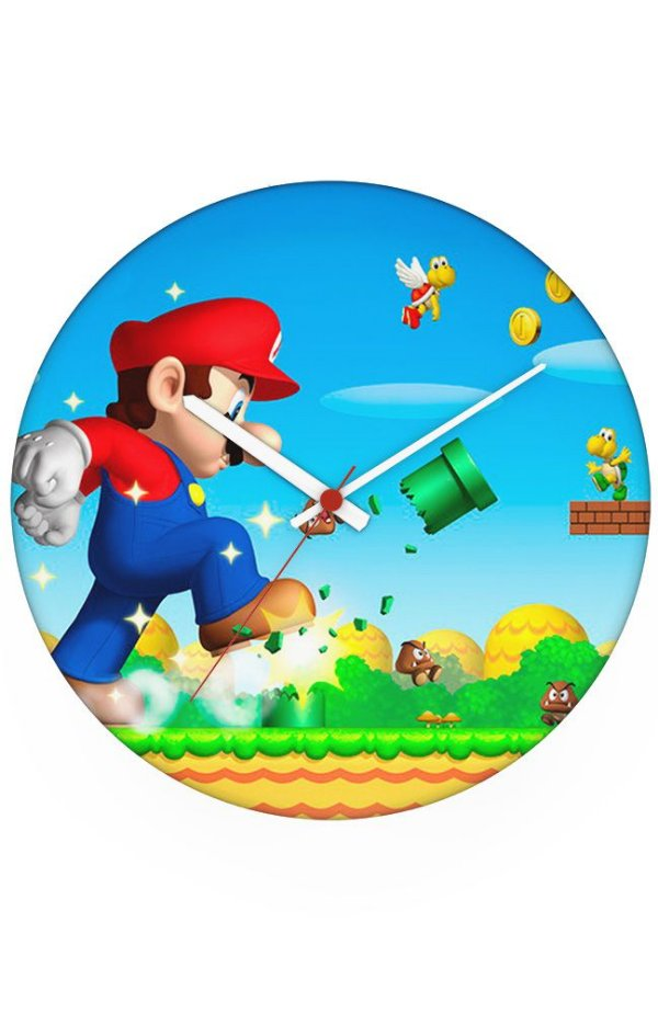 Relógio de Parede Gigante Super Mario