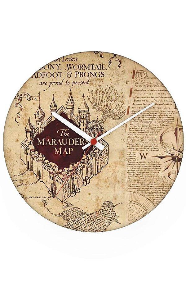 Relógio de Parede Mapa - Harry Potter