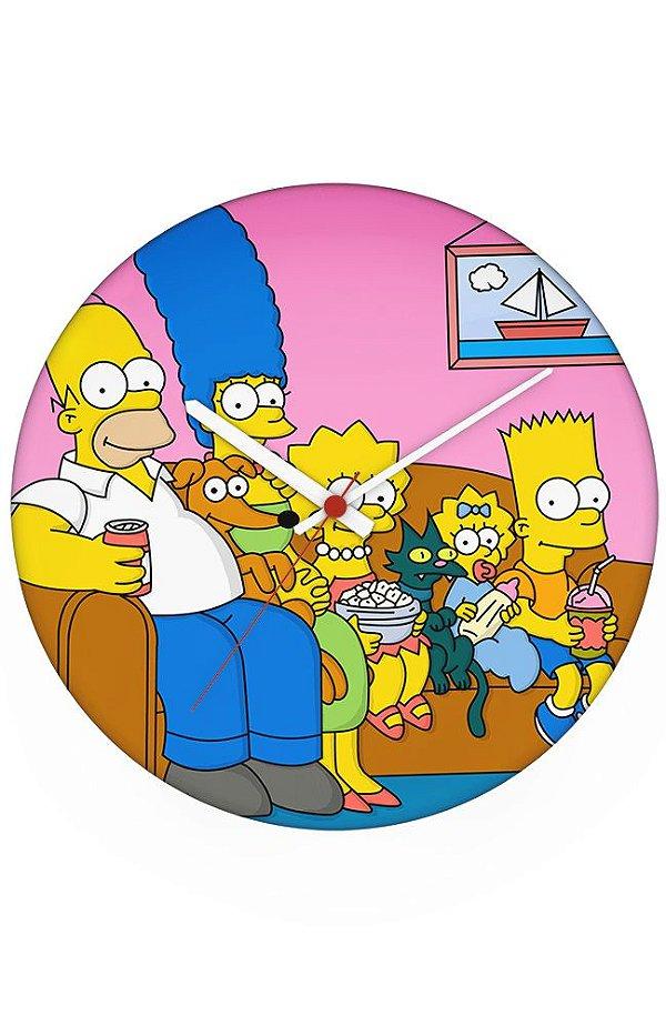 Relógio de Parede Familia Simpsons