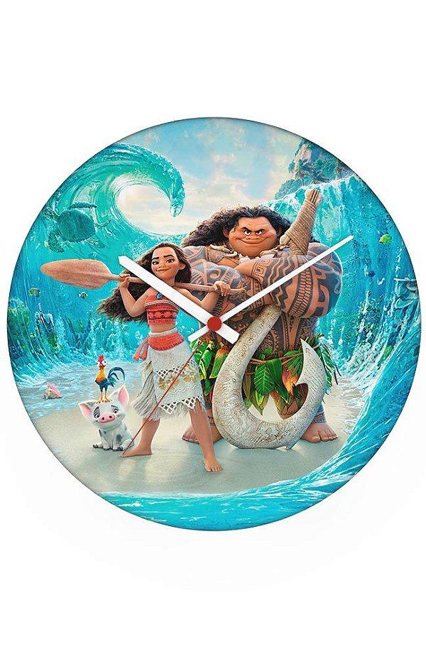 Relógio de Parede Moana: Um Mar de Aventuras