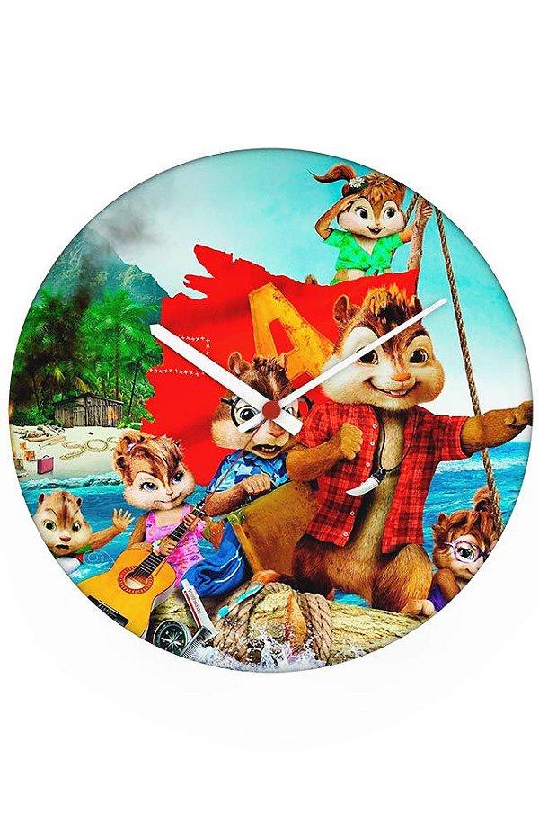 Relógio de Parede Alvin e os Esquilos