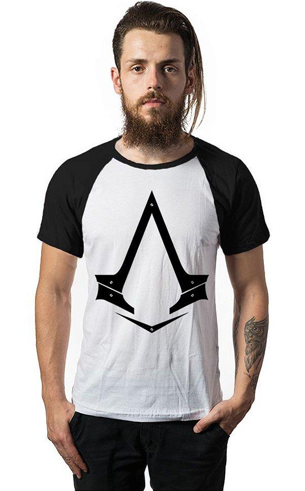Camiseta Raglan Assassin Creed - Nerd e Geek - Presentes Criativos