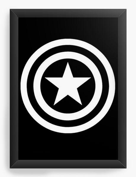 Quadro Decorativo Simbolo - Capitão America