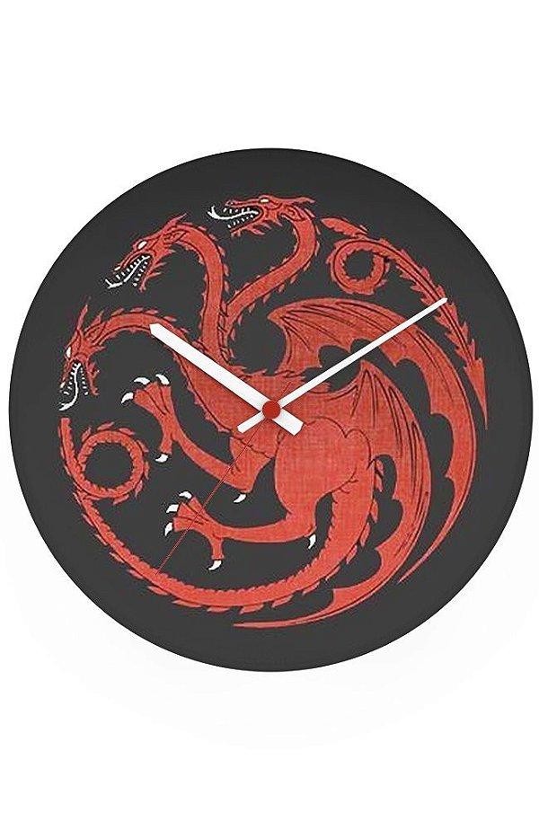Relógio de Parede Game of Thrones - Nerd e Geek - Presentes Criativos