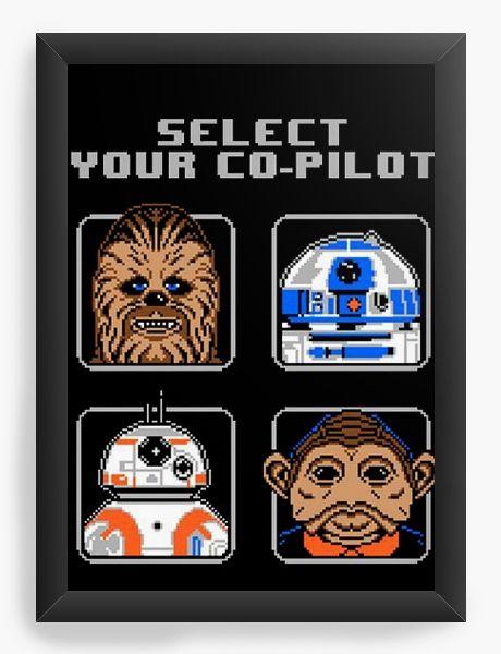 Quadro Decorativo Star Wars - Select your co-pilot