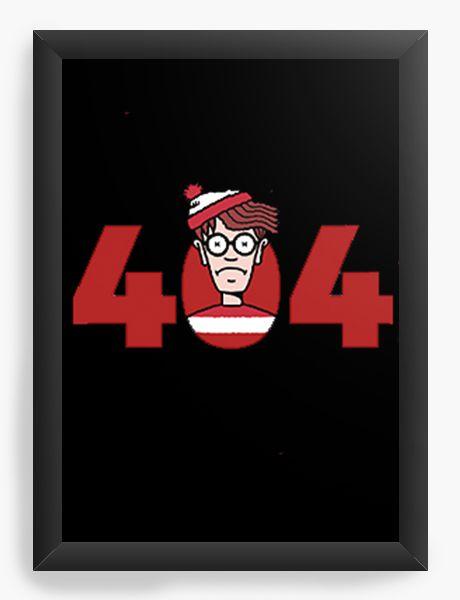 Quadro Decorativo A4 (33X24) Where's Wally - Nerd e Geek - Presentes Criativos