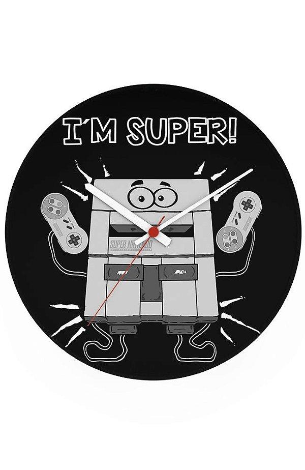 Relógio de Parede I'm Super Nintendo - Nerd e Geek - Presentes Criativos