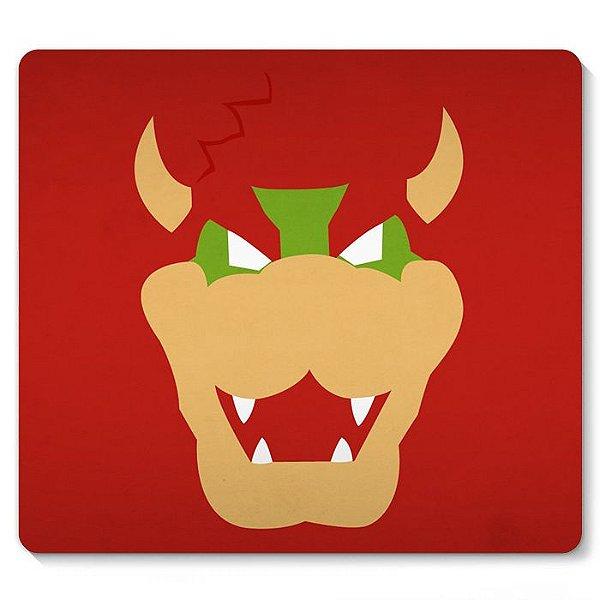 Mouse Pad Super Mario - Bowser 23x20 - Nerd e Geek - Presentes Criativos