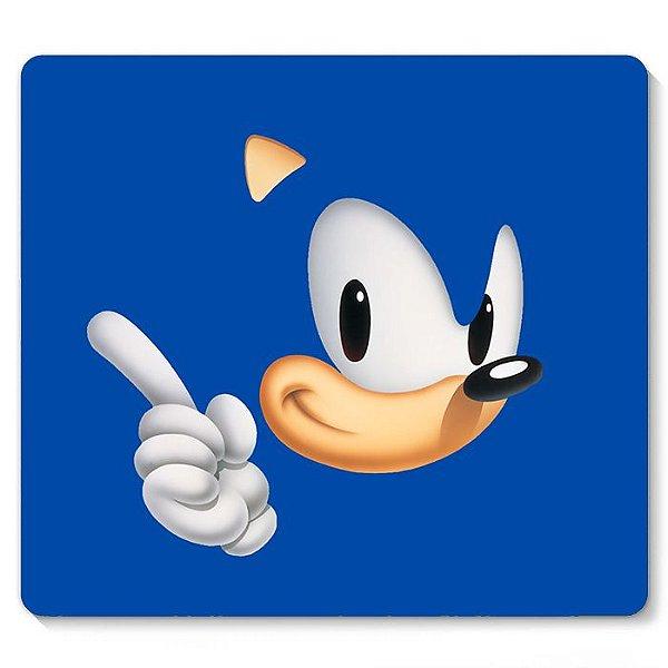 Mouse Pad Sonic 23x20 - Nerd e Geek - Presentes Criativos