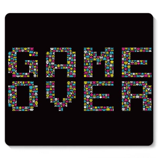 Mouse Pad Game Over 23x20 - Nerd e Geek - Presentes Criativos