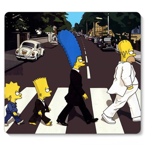 Mouse Pad Familia Simpsons 23x20