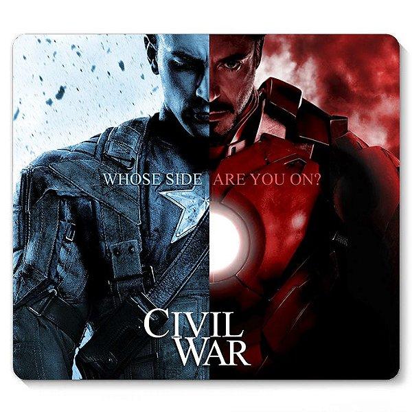Mouse Pad Homem de Ferro e Capitão America 23x20
