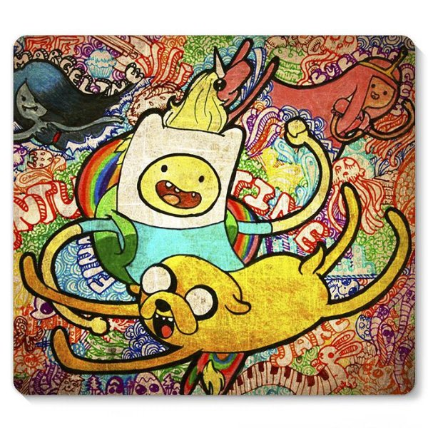 Mouse Pad Adventure Time 23x20 - Nerd e Geek - Presentes Criativos